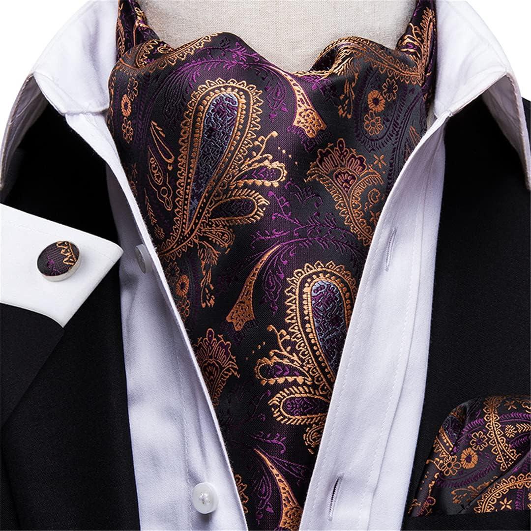 Men'S Vintage Paisley Wedding Formal Cravat Polyester Silk Casual Scarf Tie