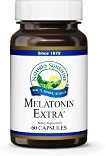 Natures Sunshine Melatonin Extra 3mg, 60 Capsules | Melatonin Capsules to Encourage Restful Sleep and