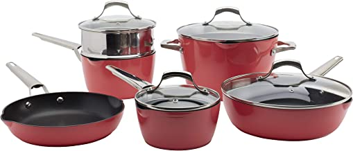 Denmark Tools for Cooks Alegra Cookware Collection- Dishwasher Safe Oven Safe Ultra-Durable, Alegra 10 Piece Cookware Set ...