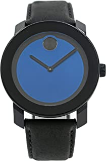 Movado Bold Black/Blue Dial Mens Watch 3600481