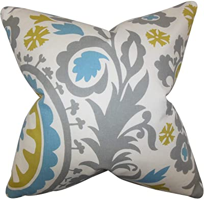 The Pillow Collection Caledon Floral Pillow Yellow