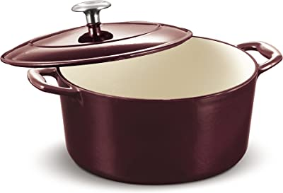 Tramontina Enameled Cast Iron Covered Dutch Oven 5.5-Quart Majolica Red, 80131/037DS
