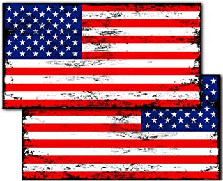 IT'S A SKIN Distressed American Flags Decals Stickers (2-Pack) American Tactical Military USA Jeep Truck Off-Road 5.5