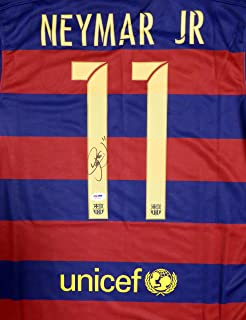 Neymar Jr. Autographed Barcelona Qatar Airways Nike Authentic Jersey Size S PSA/DNA
