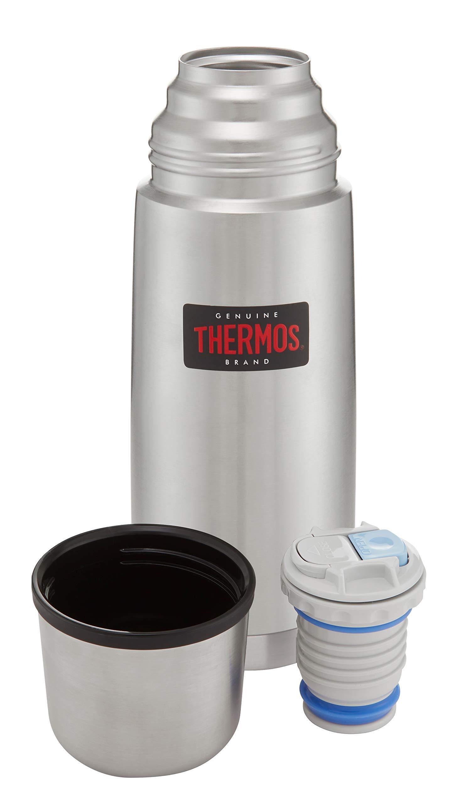 Thermos - Termo (acero inoxidable, compacto y ligero, 0,35 L), color plateado: Amazon.es: Hogar