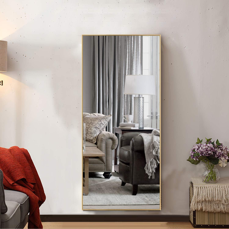 MAYEERTY Floor Mirror Door Mirrors Frame Lean Mounted 最安値 中古 Wall Metal