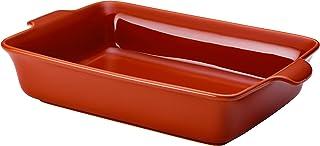 Anolon Vesta Roasting Pan / Baking Pan / Lasagna Pan - 9 Inch x 13 Inch, Persimmon Orange