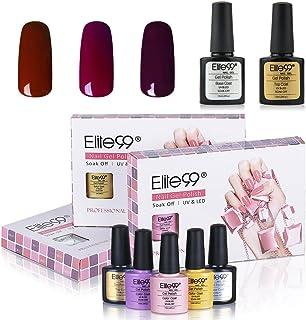 Elite99 UV LED Gel Nail Polish Soak off Varnish Lacquer Manicure Nail Salon Gift Set 3 Colors with Top Coat and Base Coat C069