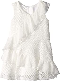 Mixed Lace Dress (Toddler/Little Kids)