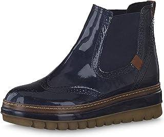 894493 Damen Stiefeletten Chelsea Boots Lack Schnallen Gummistiefel Schuhe Mode