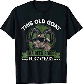 Sober t shirt - Sobriety Gift Ideas for Men 25 years sober