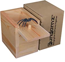 FunFamz The Original Spider Prank Box- Funny Wooden Box Toy Prank, Hilarious Christmas Money Gift Box Surprise Toy and Gag...