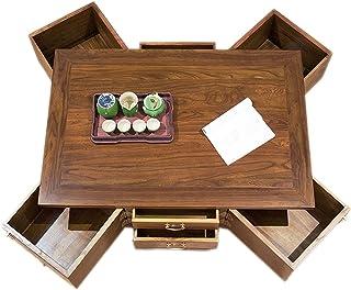 DUTUI Table Basse Rétro avec Table Basse À 8 Tiroirs, Meubles Classiques en Orme Domestique, Table Basse Multifonctionnell...