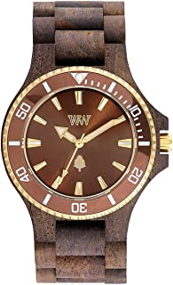Orologio in legno Wewood Ghiera Acciaio Date MB Rough Brown