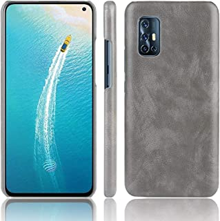 JINJIN for For Vivo V19 (Indonesia) Shockproof Litchi Texture PC + PU Case(Black) Cover (Color : Gray)
