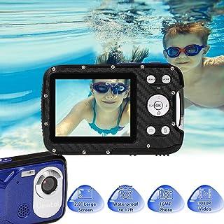 Cámara Digital a Prueba de Agua GDC8026 / Zoom Digital de 8X / 16 MP / 1080P FHD/Pantalla LCD TFT de 28/ Cámara subacuática para niños/Adolescentes/Estudiantes/Principiantes/Los Ancianos