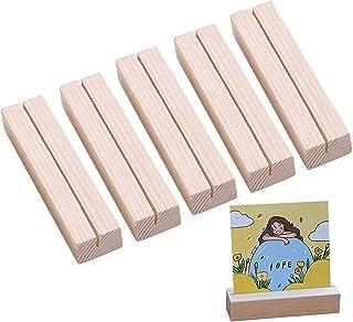 Qiwenr 10Pcs Kartenhalter Platzkarte,Rustikale Holz Kartenhalter Tischkartenhalter aus Holz Tischkartenhalter Rechteckf/örmigen Halter Wooden Place Card Holders,f/ür Hochzeitsfeier
