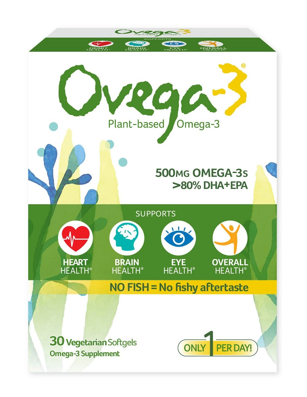 Plant Based Supplement Omega 3s Supports aftertaste