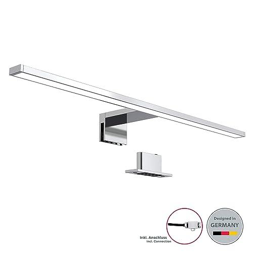 LED Bad Spiegel-Leuchte 450mm schwarz Bad-//Schrank-Lampe Aufbau-Leuchte
