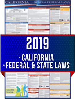 2019 California State and Federal Labor Laws Poster - OSHA Workplace Compliant 24