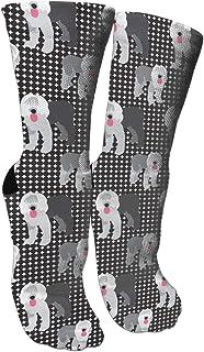 靴下 抗菌防臭 ソックス オールドイングリッシュ羊犬スポーツスポーツソックス、旅行&フライトソックス、塗装アートファニーソックス30 cmロングソックス