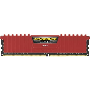 CORSAIR 8GB Vengeance LPX DDR4 PC4-19200 2400MHz Desktop Memory - Red