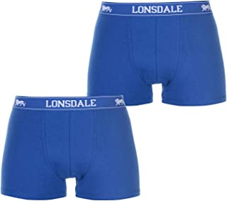 Lonsdale Kids 2 Pack Trunk Junior Boys Boxers Elasticated Waistband
