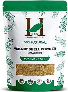 H&C 100% Natural Walnut Shell Powder for Scrub Formulation 227gms (1/2 LB)