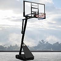 "Everfit Basketball Hoop Stand for Adults 10FT Adjustable Height Self-Return Rebounder System 18"" Steel Rim 48""..."