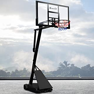 Everfit Basketball Hoop Stand System for Adults 10FT Adjustable Backboard Ring Set Indoor Stadium Outdoor Playfield Backya...