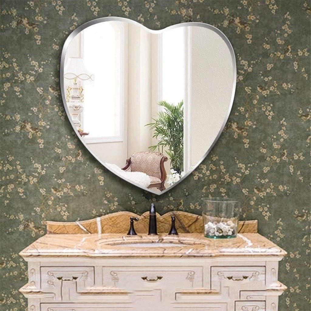 WXF Bedroom Hanging Bargain sale Wall Mirror Polishin Frameless In stock Modern Bevel