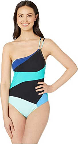 4163ba7b21352 La Blanca. Tied and True Over the Shoulder One-Piece. $133.00. Sips &  Slices One Shoulder Mio One-Piece Swimsuit