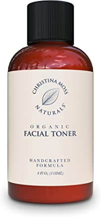 Facial Toner - Face Toner Made With Organic & Natural Ingredients - Skin Clearing, Refines, Tightens Pores, Hydrates, Restores pH. No Harmful Chemicals or GMOs. Christina Moss Naturals 4oz Unscented