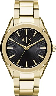 Bevilles Armani Exchange Fitz Black Gold Watch AX2801 0723763281324