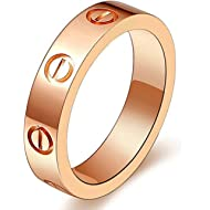 SHIRIA Love Rings Lifetime Promise with Screw Design Best Gifts for Love with Valentine's Day...
