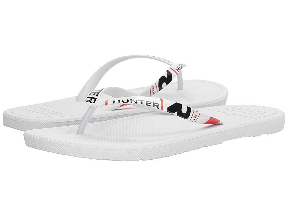 Hunter Original Exploded Logo Flip-Flop (White) Men