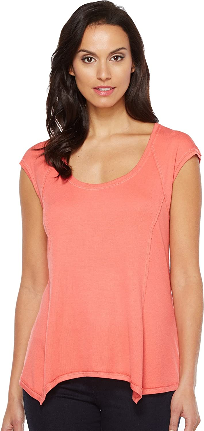 Heather Womens Sleeveless Raglan Swing Top
