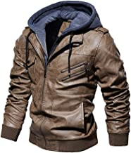 Plus Size Coat Beautyfine Men Leather Plus Velvet Washed Vintage Winter Thickening Outwear Tops