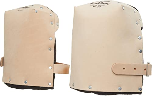 Custom Leathercraft 313 Heavy Duty Leather Kneepads, with Double Thick Lining