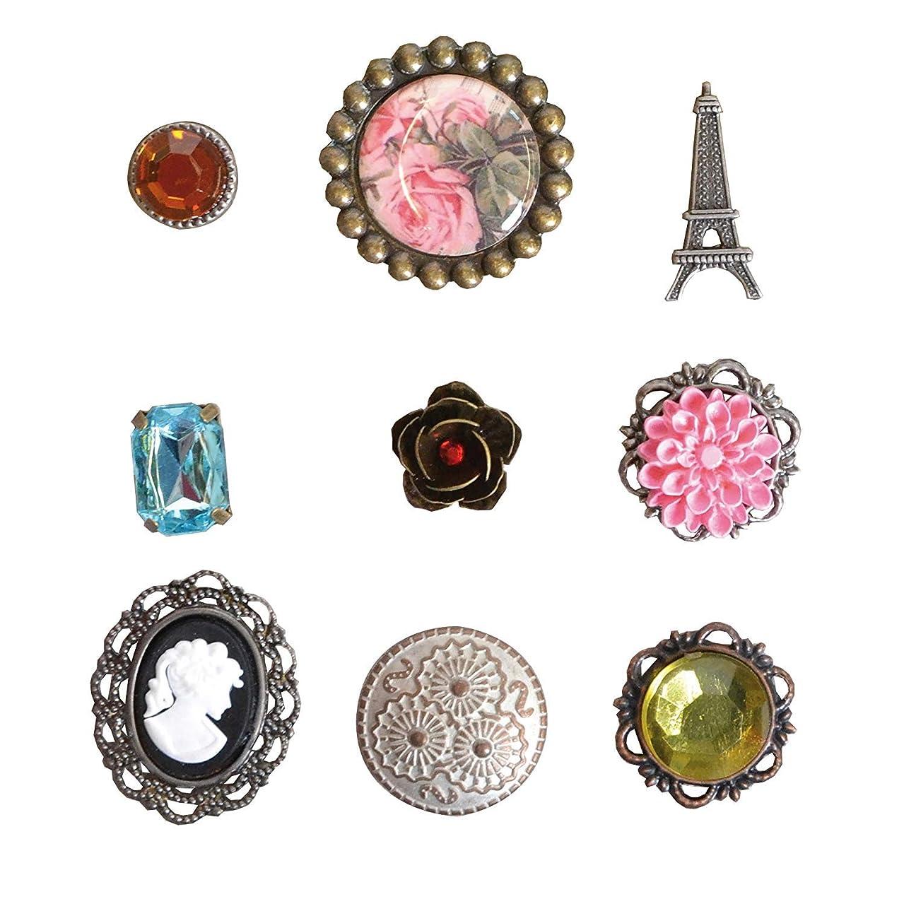 Artemio 11006619 9 Brads Oldies Jewellery Pink