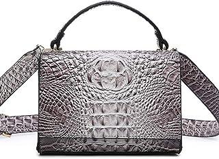 Textured handbag, versatile shoulder bag, messenger small square bag, scarf hand strap, simple atmosphere, essential for travel dating (Color : Silver, Size : One size)