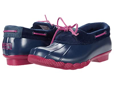 Sperry Saltwater 1-Eye Corduroy (Navy/Pink) Women