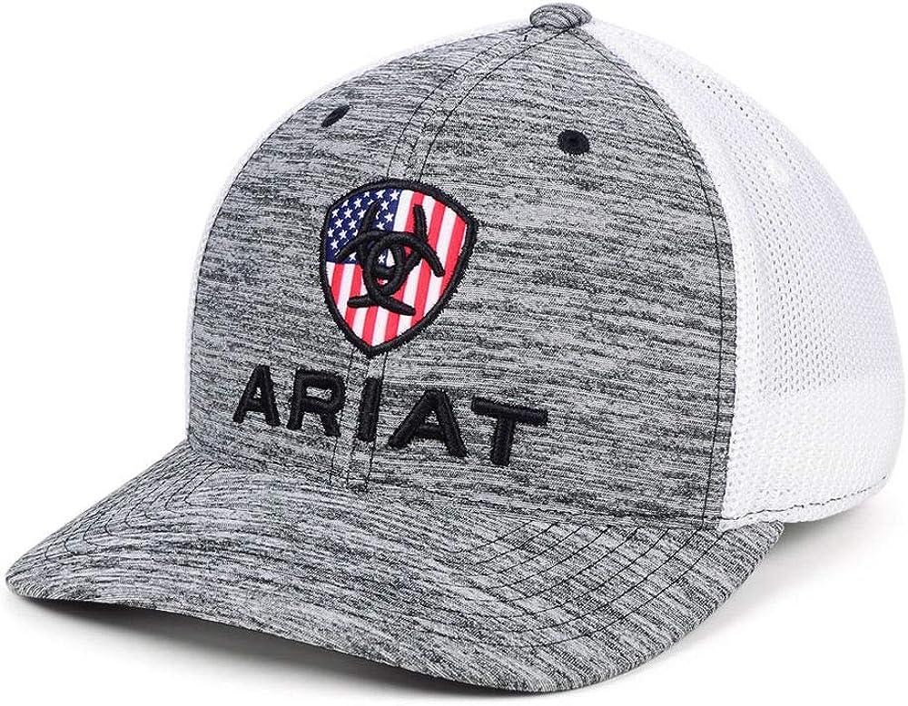 ARIAT Men's RWB Shield Logo Flexfit110 Snapback Cap
