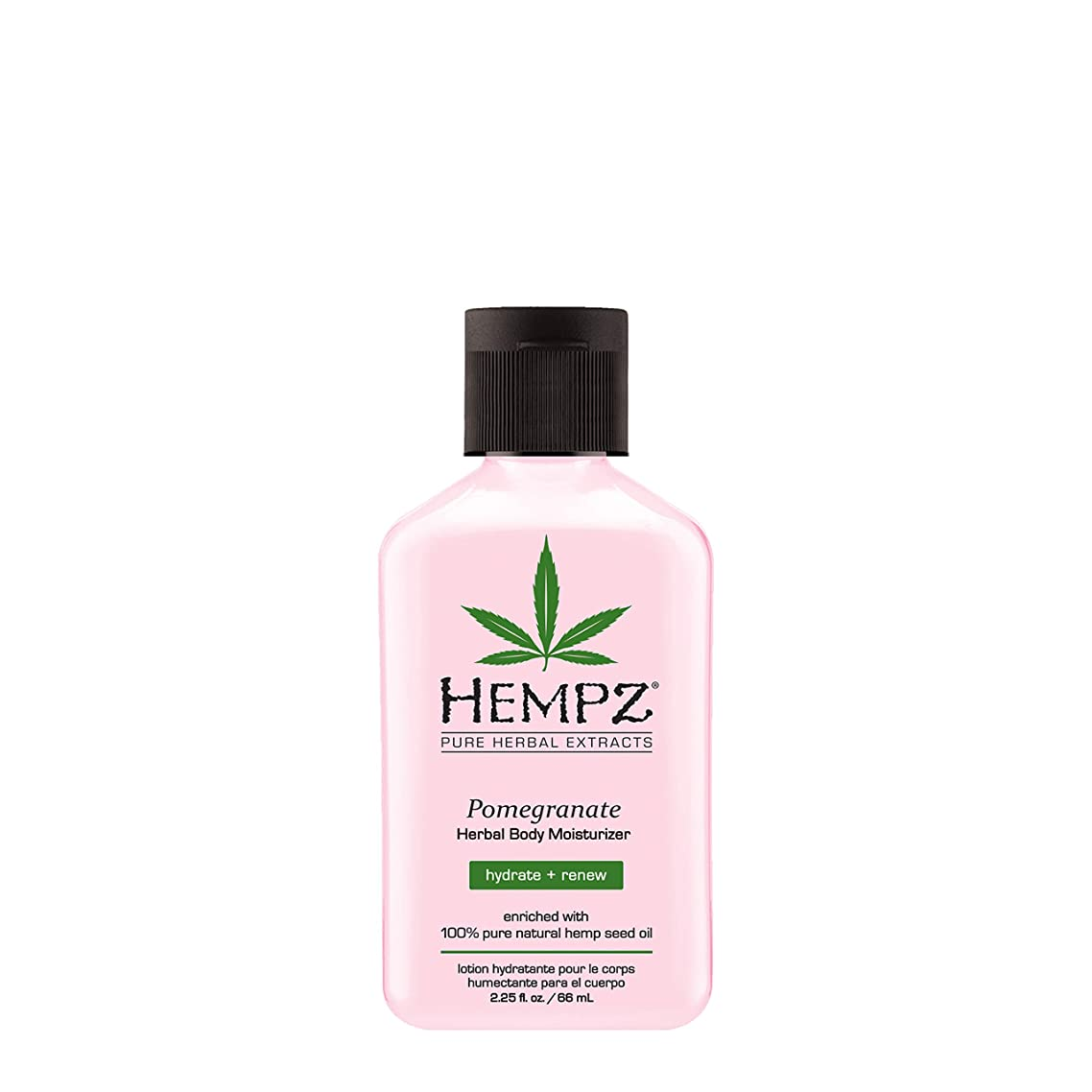 Hempz Herbal Body Moisturizer, Light Pink, Pomegranate, 2.25 Fluid Ounce