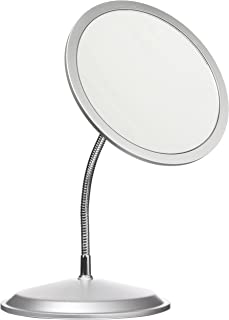 Double Vision™ Gooseneck Vanity/Wall Mount Mirror 5X/10X Magnification, Made in the USA