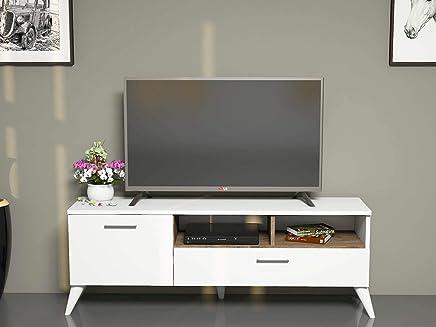Bravo Sinba TV Unit, White - 48 cm x 120 cm x 32 cm