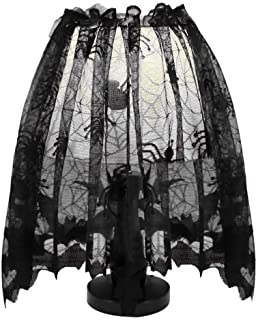 🍀Libobo🍀Halloween Knitted Curtain Lamp Cover Black Spider bat lace