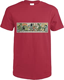 The Burning of the Midnight Oil Vintage Poster (artist: Blumenthal) USA c. 1907 58581 (Cardinal Red T-Shirt Medium)