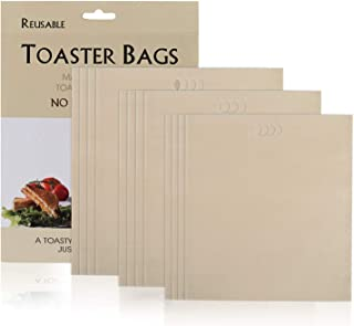GWHOLE Toaster Bag, 3 Sizes 12 Pack Non-Stick Reusable Toaster Bags Hear Resistant Microwave Oven Toaster Sandwich Bags fo...