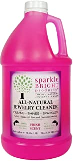 Sparkle Bright Products All-Natural Jewelry Cleaner | Liquid Jewelry Cleaning Solution, Half Gallon (64oz.) | Ultrasonics,...